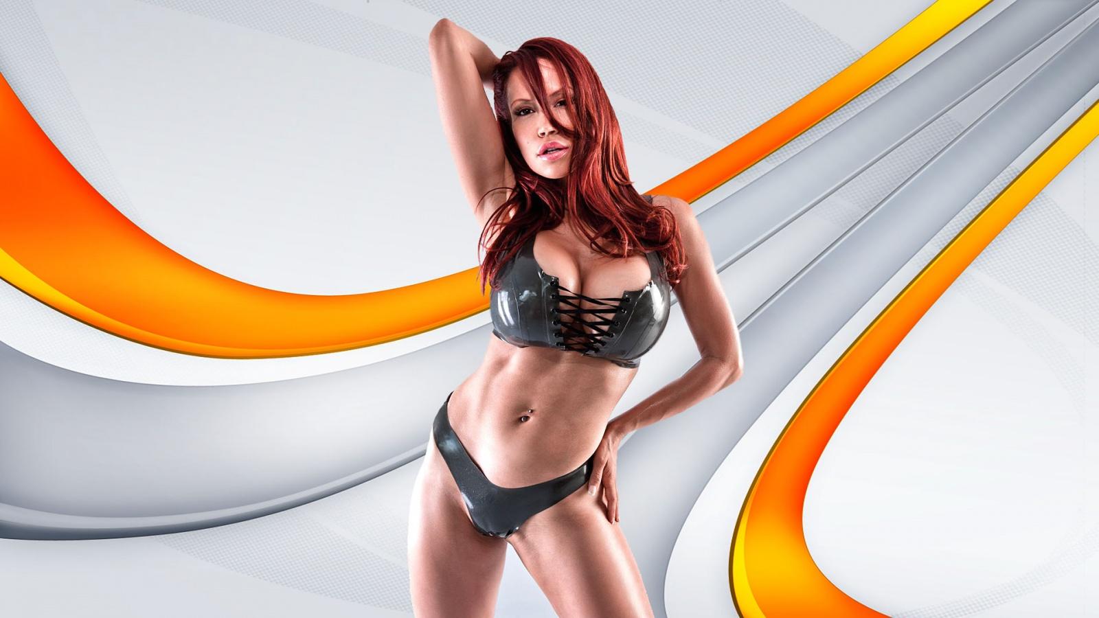 Redhead porn star nude busty