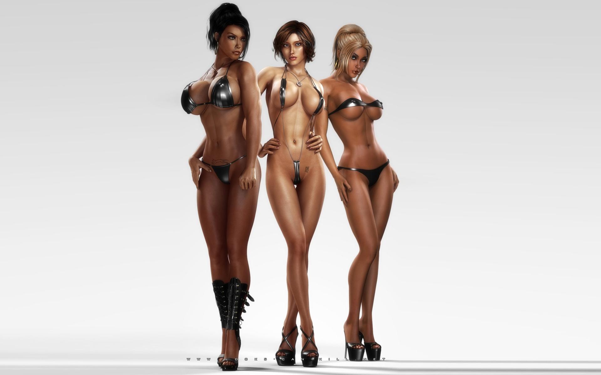 Hot big tits 3d models perfectly crafted women models cgi ...