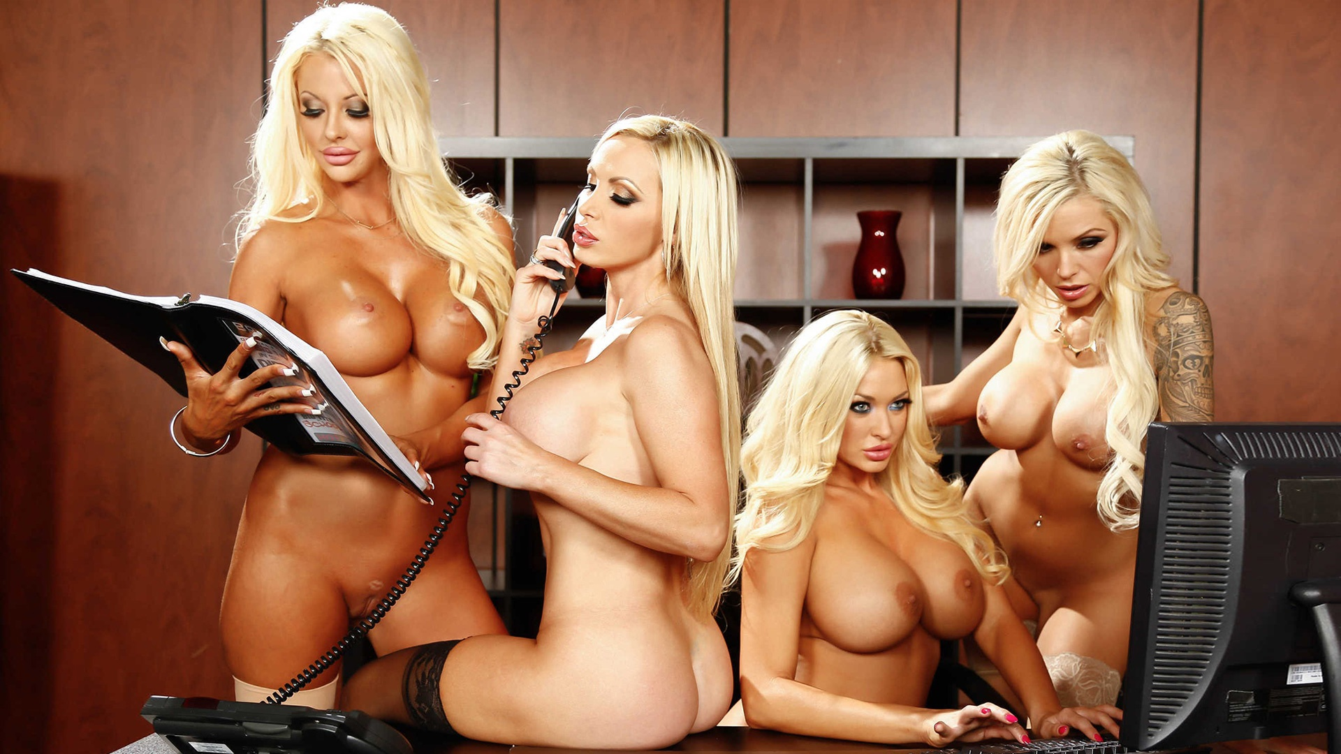 Nude blonde pornstar movie