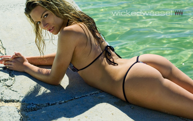 hot ass katia sexy bikini from wickedweasel swimwear  pany wallpaper