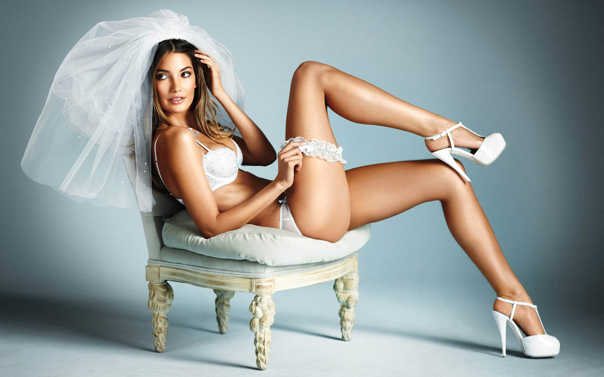 Sexy nude bridal lingerie