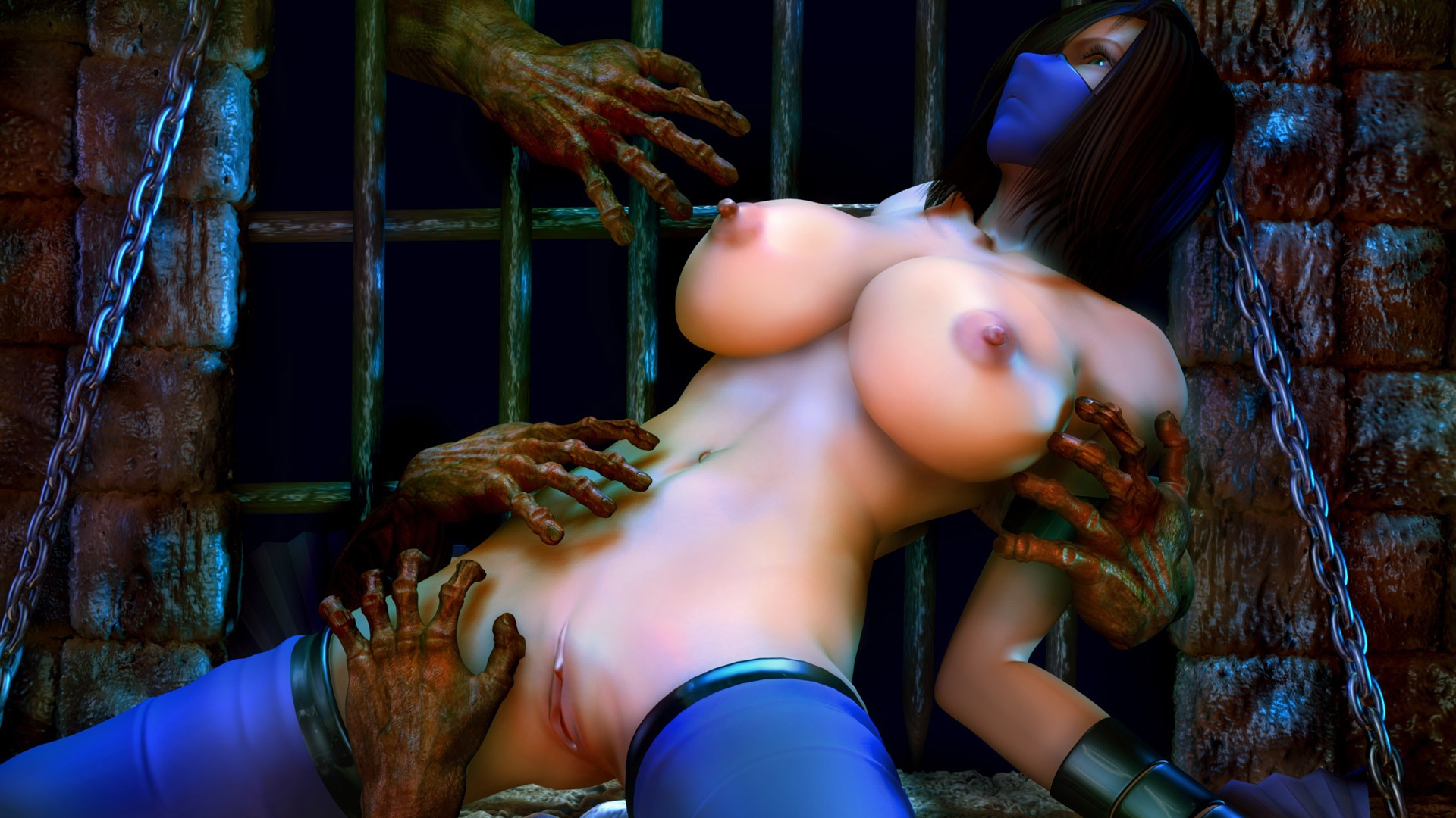 Nude Mortal Kombat Female Warrior Attacked And Raped By