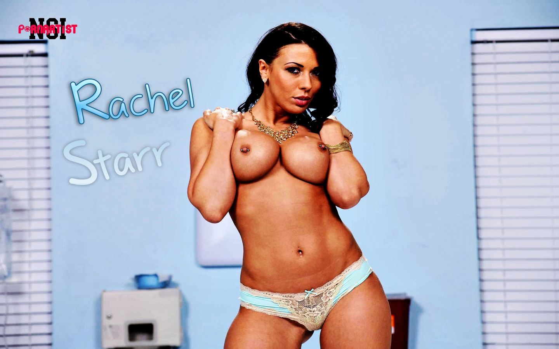 Rachel Starr Hot Busty Brunette Pornstar Topless In Front Of