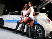 Alfa Mito and hot babes wallpaper