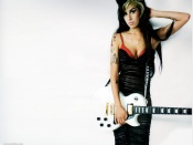 Amy Winehouse photo with the guitar wallpaper