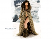 Aria Giovanni fur coat and sexy smooth legs wallpaper