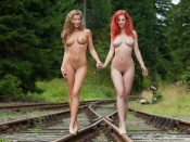Ariel Piper Fawn and sexy nude friend in the woods