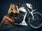 Bad Blonde and Bike
