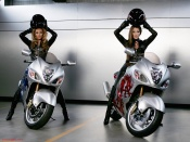 Beyonce and Jennifer Lopez wallpaper, sexy celebrities on bikes wallpaper, bikes and babes wallpaper