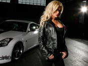 Blondes love cars wallpaper