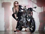 Bmw Predator Bike and hot blonde babe