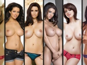 Busty Glamour Models topless