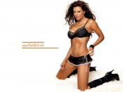 Candice Michelle sexy maid outfit wallpaper