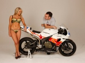 Cara and Honda CBR racing wallpaper, Cara wallpaper, sexy model in lingerie and bike, bikes and babes wallpapers