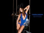 Carolina Ardohain sexy blue swimsuit hot wallpapers