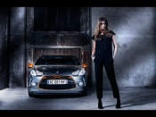 Citroen DS3 and hot girl model wallpaper