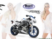 Colleen Shannon and the hot Buell Firebold bike wallpaper