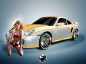 Custom Wheels and Hot blonde babe in bikinis