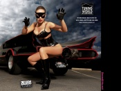 Daniela Grimm and batmobile car wallpaper, sexy wallpaper, hot model daniela grimm, miss tuning 2009 wallpaper