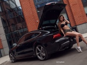 Dashenka Strajova hot bikini and audi rs7
