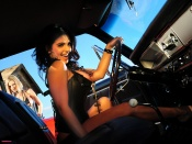 denise milani wallpaper, jenny poussin wallpaper, action girls wallpaper, retro cars walpaper, hot woman