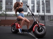 Electric Scooter and hot chick