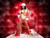Eva Angelina Santa wallpaper