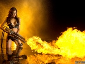 Fire gun beauty Leeanna Vamp