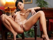 Flashing Brunette hot nude wallpaper