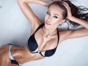 Galinka Mirgaeva hot skinny brunette model in bikini
