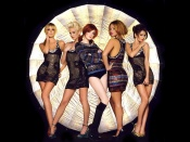 Girls Aloud sexy glamour shoot album promo cover, hot girl band, music wallpaper