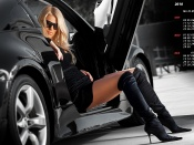 GullWing doors and hot babe