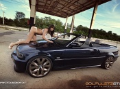 Hot babe and Bmw Convertible, babes and cars, tuning beauty, lingerie model, sexy girl, sport cars