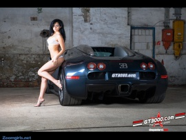 Hot Babe and Veyron (click to view)