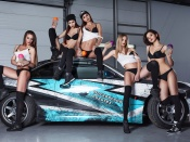 Hot babes and sport car