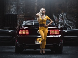 Hot Blonde and Mustang (click to view)