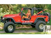 Hot Girl And Jeep Wrangler sexy wallpaper, babes amd cars, wheels, off road, bikini model, beauty, machines, auto