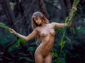 Ilvy Kokomo trimmed bush in the woods nude