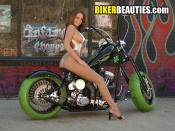 Infamous Choppers and babe wallpaper