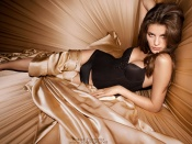Isabeli Fontana, sexy lingerie model, between the sheets, wallpaper, beauty, girl, model, sexy babe