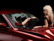 Jaguar and hot babe sexy wallpaper, babes and cars wallpapers, jaguar xjs wallpaper, hot model desktop
