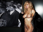 Jenna Jameson nude diva in fur coat