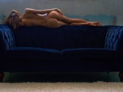 Katya Clover showing her hot ass on top of a sofa
