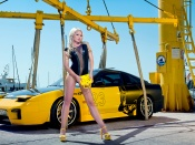 Mandy Lange, miss tuning, hottie, babe, model, beauty, mazda rx, sport cars, babes and cars