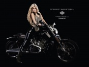 Marisa Miller and harley davidson v rod bike photos wallpapers