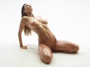 Marisa, sexy model, hot body, oil, wet babe, naked, nude, sexy, erotic, nice tits, shaved pussy