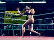 Marlen Esparza sexy female boxer nude in the ring