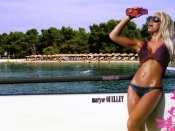 Maryse Ouellet sexy wet wallpaper