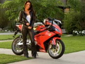 Megan Fox, hot actress, transformers, aprilia bike, superbike, movies, babes and wheels, motorcycles