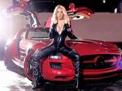 Mercedes SLS Gullwing and hot blonde beauty Valeria Orsini